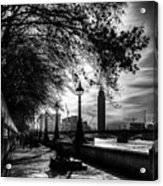 The River Thames Path Acrylic Print