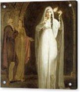 The Sleepwalking Scene Act V Scene I From Macbeth Henry Pierce Bone Acrylic Print