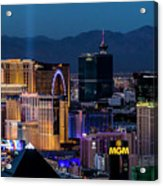 the Strip at night, Las Vegas Acrylic Print