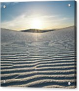 The Unique And Beautiful White Sands National Monument In New Mexico. Acrylic Print