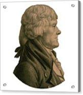Thomas Jefferson Profile Acrylic Print