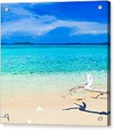 Tropical Beach Malcapuya Acrylic Print by MotHaiBaPhoto Prints