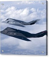 Two F-117 Nighthawk Stealth Fighters Acrylic Print by HIGH-G Productions