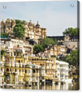Udaipur City Palace In Rajasthan Acrylic Print