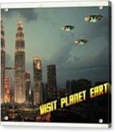 Ufo Postcards Home By Raphael Terra Acrylic Print