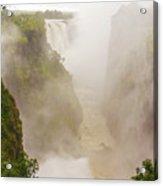 Victoria Falls In Zambia Acrylic Print
