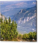 View Of Tatra Mountains From Hiking Trail. Poland. Europe. Acrylic Print