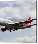 Virgin Atlantic Boeing 747 Acrylic Print