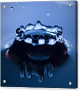 Water Droplet Crown Acrylic Print