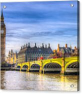 Westminster Bridge And Big Ben Acrylic Print