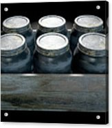 Whiskey Jars In A Crate Acrylic Print