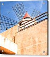 Windmill - Trapani Salt Flats Acrylic Print