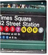 42 Street Station Nyc Acrylic Print