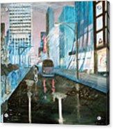 42nd Street Blue Acrylic Print by Steve Karol
