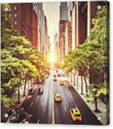 42nd Street In New York During The Day  Acrylic Print