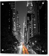42nd Street Nyc Acrylic Print
