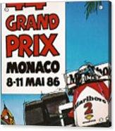 44th Monaco Grand Prix 1986 Acrylic Print