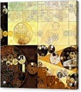 Abstract Painting - Zinnwaldite Brown Acrylic Print