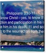 Bible Verse  Acrylic Print