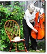 Female Cellist. Acrylic Print