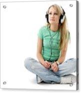 Headphones Acrylic Print