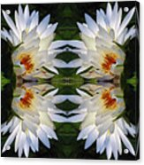 White Lotus Mandala Acrylic Print