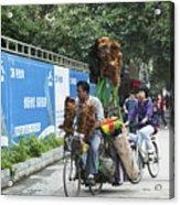 4714- Bicycle Vender Acrylic Print