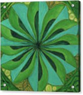4th Mandala - Heart Chakra Acrylic Print