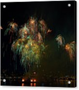 4th Of July Fireworks From The Barge Portland Oregon Acrylic Print