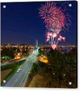 4th Of July Fireworks Portland Oregon Acrylic Print
