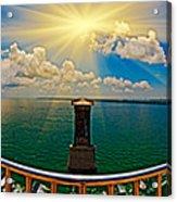4x1 Bahia Honda Bridge Panorama Acrylic Print