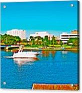 4x1 Downtown Tampa Panorama Acrylic Print