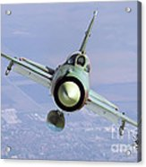 A Bulgarian Air Force Mig-21bis Armed Acrylic Print