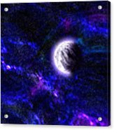 Abstract Stars Nebula Acrylic Print
