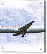 Air Canada Boeing 777 Art Acrylic Print