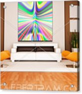 An Example Of Modern Art By Rolf Bertram In An Interior Design Setting Acrylic Print by Rolf Bertram