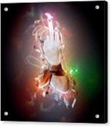 An Obscene Hand Sign Acrylic Print