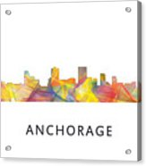 Anchorage Alaska Skyline Acrylic Print