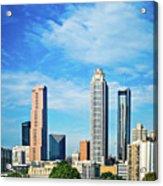 Atlanta Downtown Skyline With Blue Sky Acrylic Print
