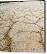 Badwater Basin Death Valley Salt Formations Acrylic Print