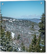 Beautiful Nature And Scenery Around Snowshoe Ski Resort In Cass  Acrylic Print
