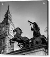 Big Ben And Boadicea Statue  Acrylic Print