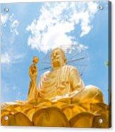 Big Golden Buddha Acrylic Print
