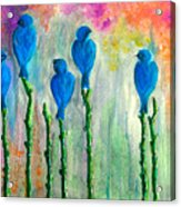 5 Bluebirds Of Happiness Acrylic Print