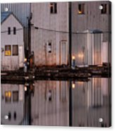 Boathouse Reflections  Acrylic Print