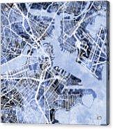 Boston Massachusetts Street Map Acrylic Print
