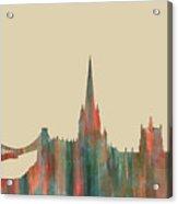 Bristol England Skyline Acrylic Print