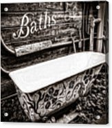 5 Cent Bath Acrylic Print