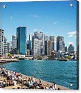 central sydney CBD  area skyline and circular quay in australia Acrylic Print