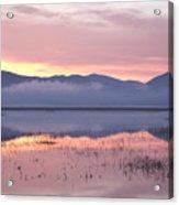 Cerknica Lake At Dawn Acrylic Print